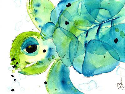 Ocean Turtle Painting - Sea Turtle by Dawn Derman