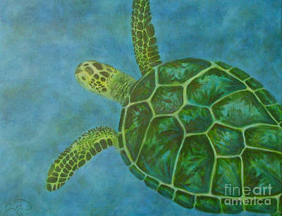 Sea Turtle Print by Julie Neuman