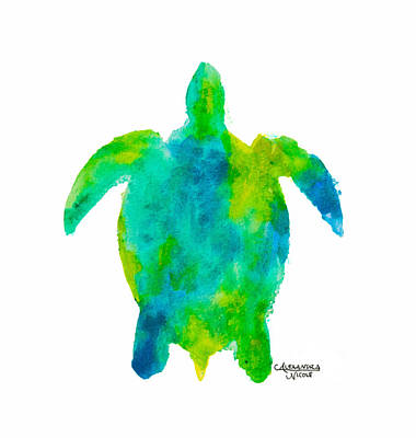 Newton Painting - Caretta - Lime by Alexandra Nicole Newton