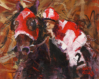 Seabiscuit Painting - Seabiscuit by Ron and Metro