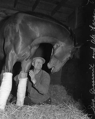 Seabiscuit Photograph - Rare Seabiscuit Triple Crown Winner #7 by Retro Images Archive