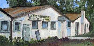 Susan L Richardson Art Painting - Seafood House Apalach by Susan Richardson