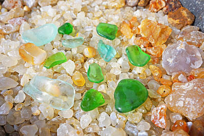 Seaglass Photograph - Seaglass Green Art Prints Agates Beach Garden by Baslee Troutman