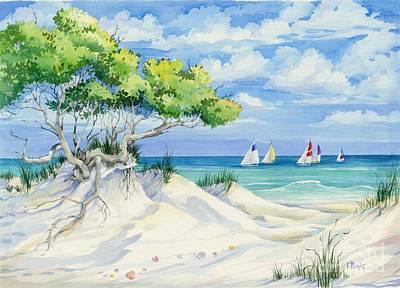 Sailboat Ocean Painting - Seagrove Beach by Paul Brent