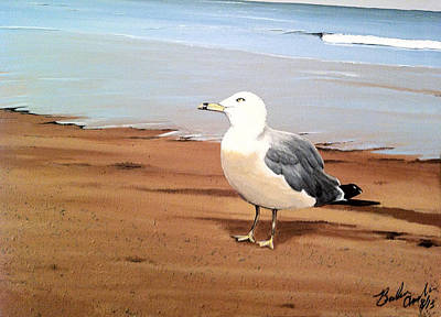 Plumb Painting - Seagull In Love by Barbara Andrews