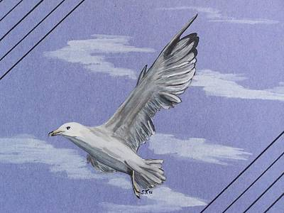 Seagull Print by Susan Turner Soulis