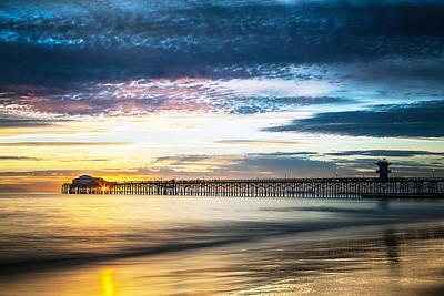 California Photograph - Seal Beach Sunset #5 by George Pennock