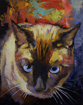 3d Painting - Seal Point Siamese by Michael Creese
