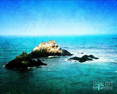 Batik Photograph - Seal Rocks From Cliff House San Francisco California by Jani Bryson