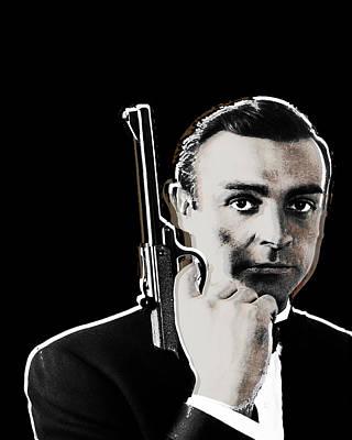 Sean Connery James Bond Vertical Print by Tony Rubino