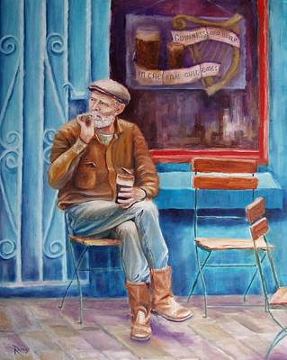 Ireland Painting - Sean Demsey And The Rare Auld Times by Bernie Rosage Jr