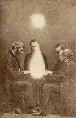 Seance And Psychic Forces Print by American Philosophical Society