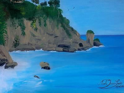 Jacmel Painting - Seascape 2 by Nicole Jean-Louis