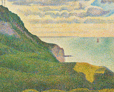 Pointillist Painting - Seascape At Port En Bessin Normandy by Georges Seurat