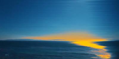 Coastal Decor Digital Art - Seascape At Sunset by Ben and Raisa Gertsberg