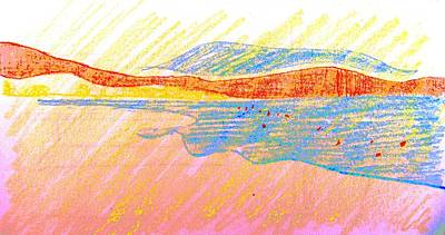 Seascape Limassol Cyprus Print by Anita Dale Livaditis