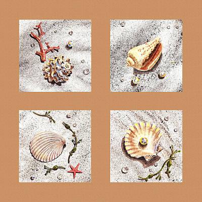 Interior Still Life Painting - Seashell Collection II by Irina Sztukowski