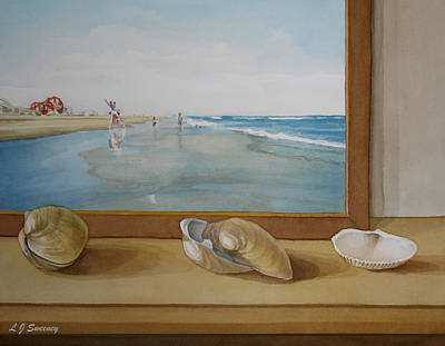 Seashells By The Jersey Shore Print by Lauren Sweeney