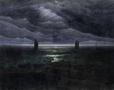 Caspar Painting - Seashore By Moonlight by Philip Ralley