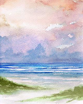 Seashore Sunset Print by Rosie Brown