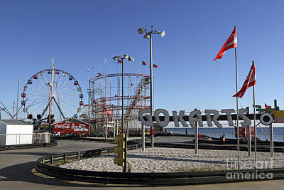 Rollercoaster Photograph - Seaside Fun Town Pier by John Van Decker