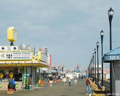 Seaside Heights Digital Art - Seaside Heights Boardwalk by John Sondey