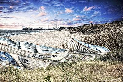 Seaside Heights Digital Art - Seaside Heights Life Boats by Jessica Cirz