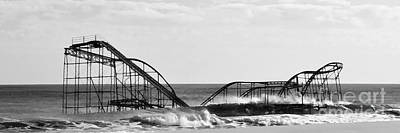 Seaside Heights Digital Art - Seaside Heights Roller Coaster   - Paint 2 by Sami Martin