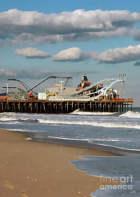 Seaside Heights Digital Art - Seaside Heights Roller Coaster 2 by Sami Martin