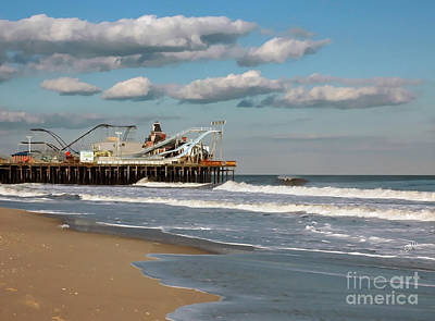 Seaside Heights Digital Art - Seaside Heights Roller Coaster by Sami Martin