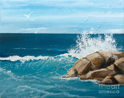 Shore Painting - Seaside by Michelle Wiarda