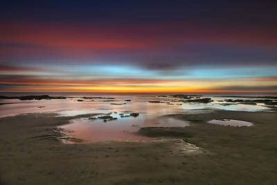Cardiff Photograph - Seaside Reef Sunset 14 by Larry Marshall