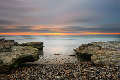 Cardiff Photograph - Seaside Reef Sunset 16 by Larry Marshall