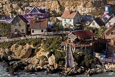 Seaside Village Under The Cliffs, Malta Print by Tim Holt