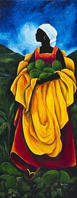 Sandals Painting - Season Avocado by Patricia Brintle