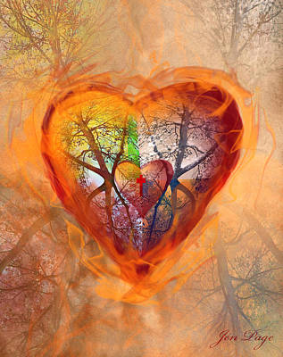 Pages Of Life Digital Art - Season Of The Heart by Jennifer Page
