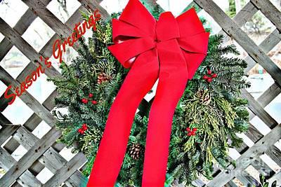 Photograph - Season's Greeting Holiday Card by Judy Palkimas