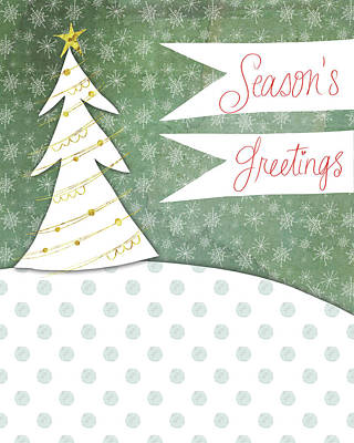 Christmas Painting - Season's Greetings by Katie Doucette