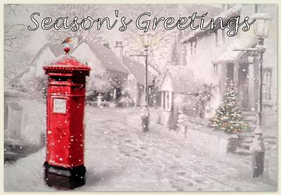 Season's Greetings Print by The Creative Minds Art and Photography