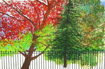 Merging Painting - Seasons Merged by Kathleen Howard