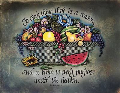 Seasons Scripture Print by La Rae  Roberts