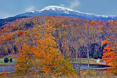 Seasons' Shift - Mount Washington - White Mountains Print by Nikolyn McDonald
