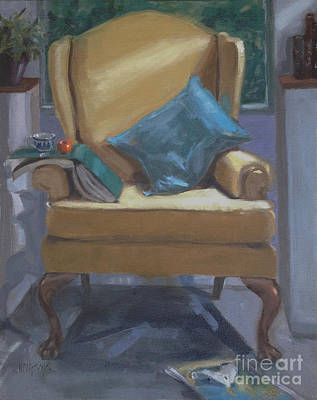 Tangerine Painting - Seat Of Knowledge by Nancy  Parsons