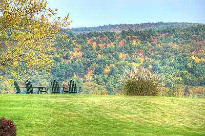 Autumn Photograph - Seat With A View by Donna Doherty