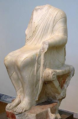 Seated Dionysos Print by Andonis Katanos