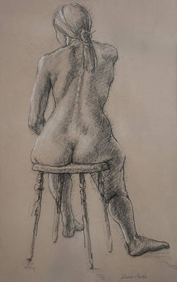 Seated Figure Print by Sarah Parks
