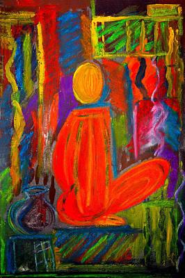 Seated Monk Print by Nirdesha Munasinghe
