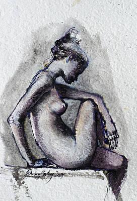 Seated Nude Original by Dorina  Costras
