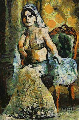 Seated Princess Print by David Jackson