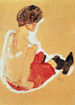Schiele Drawing - Seated Woman, 1911  by Egon Schiele
